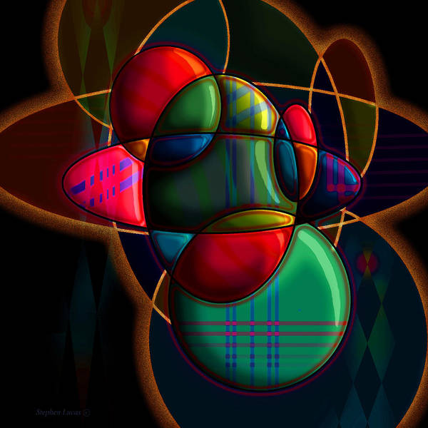 Modern Art Print featuring the digital art Tactile Space I by Stephen Lucas
