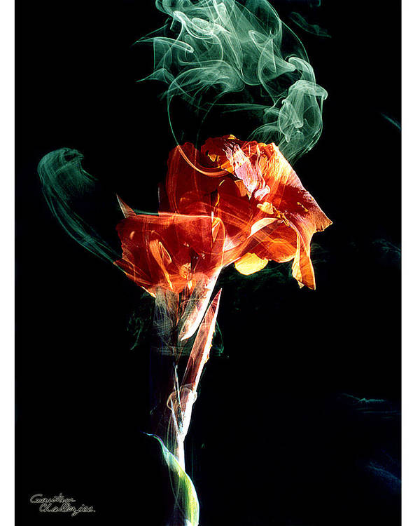 Smoke Art Print featuring the photograph Smoke In My Mind - 3 by Gautam Chatterjee