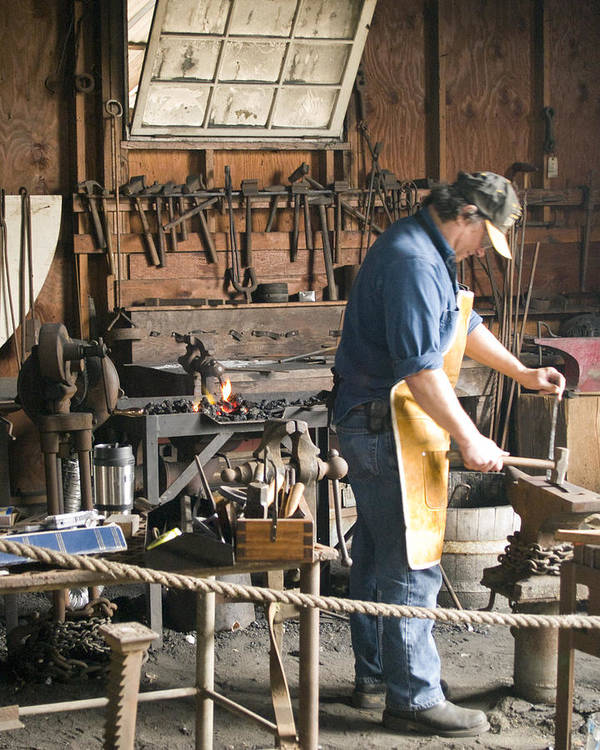 Decor Art Print featuring the photograph The Blacksmith by Ron Kizer