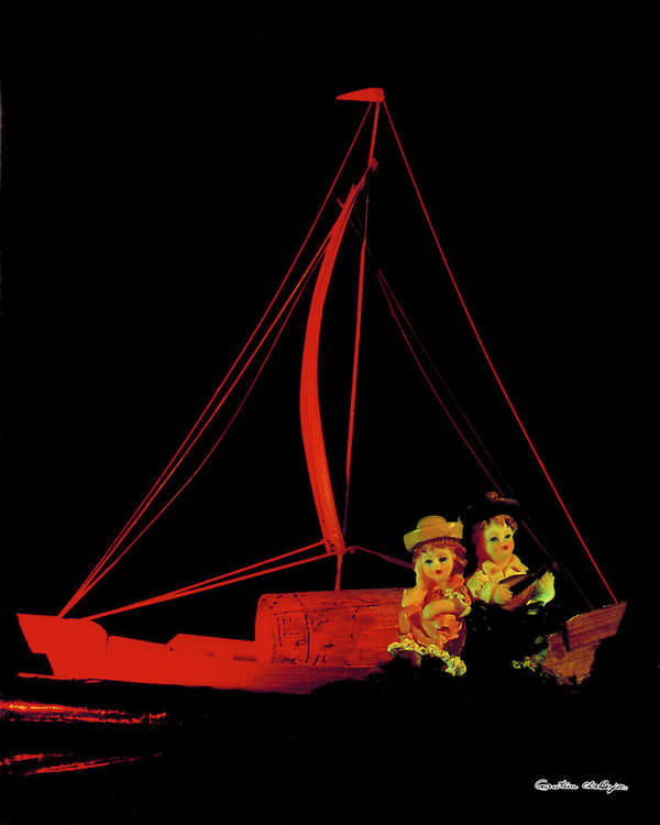 Red Boat Art Print featuring the photograph The Leisure by Gautam Chatterjee
