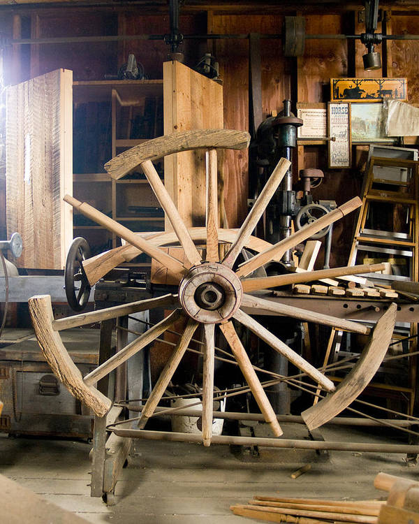 Decor Art Print featuring the photograph The Wheelwright's Shop by Ron Kizer