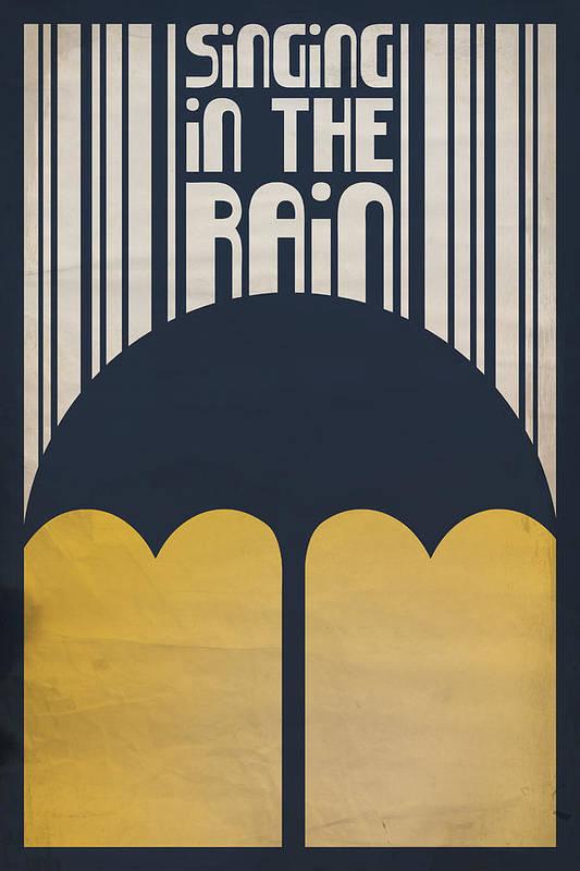 Gene Kelly Art Print featuring the digital art Singin' In The Rain by Megan Romo
