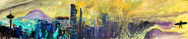 Landscape Art Print featuring the painting Three Sixty Degrees Nw by Nathan Paul Gibbs