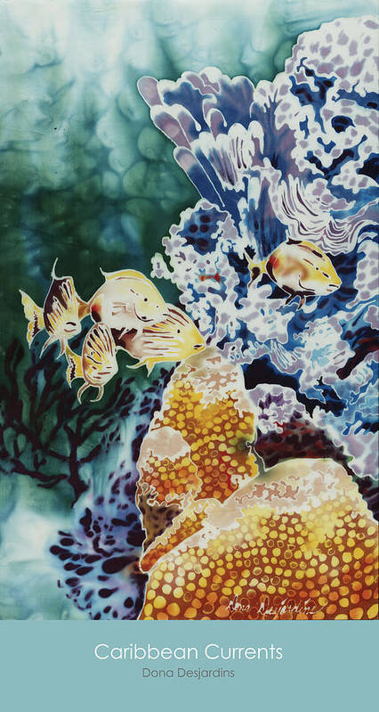 Poster Art Print featuring the painting Carribean Currents Poster by Dona Desjardins