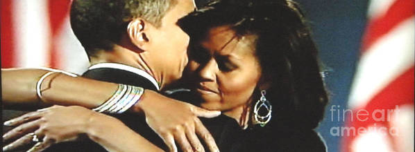 Portraits Art Print featuring the photograph Obama Love by Jeannette Ulrich