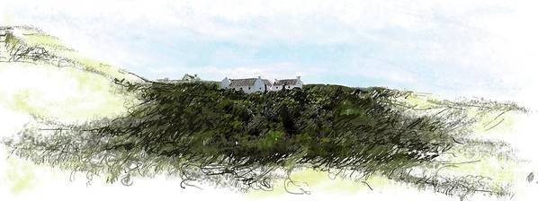 Historic Houses Art Print featuring the painting de Hoop nature reserve by Ronald Rosenberg