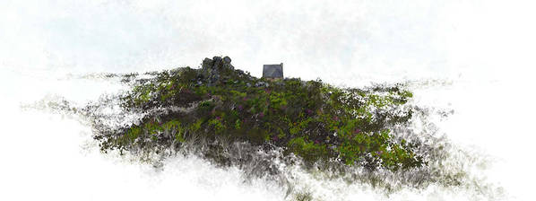 Landscape Art Print featuring the painting Mountain Cottage In Fynbos by Ronald Rosenberg