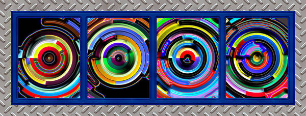 Abstract Art Print featuring the digital art Circulation by Wendy J St Christopher