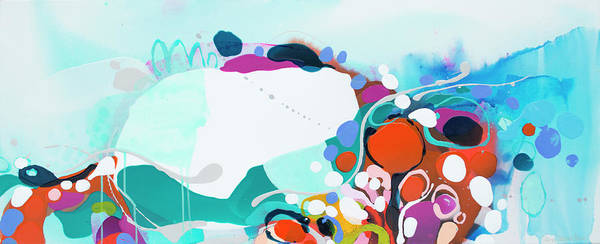 Abstract Art Print featuring the painting New Ways by Claire Desjardins