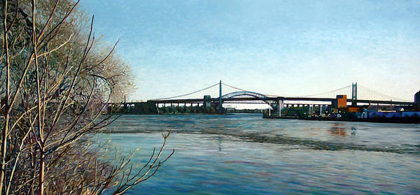 River Art Print featuring the painting Hell's Gate by Randy Ford