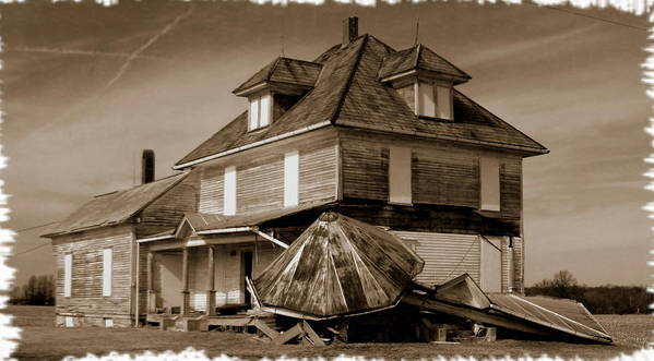 House Art Print featuring the photograph 021709-22 Once Proud by Mike Davis