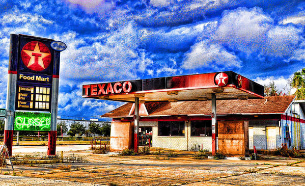 Texaco Art Print featuring the photograph  Lone Star by Don and Sheryl Cooper