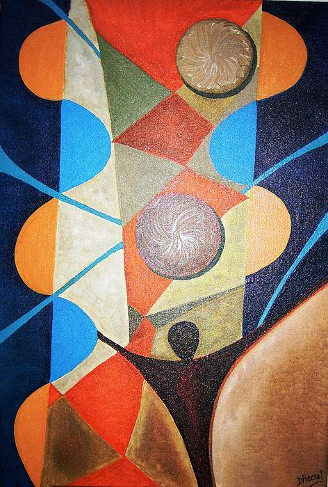Abstract Art Print featuring the painting Aspirations by Dhiraj Tripathi
