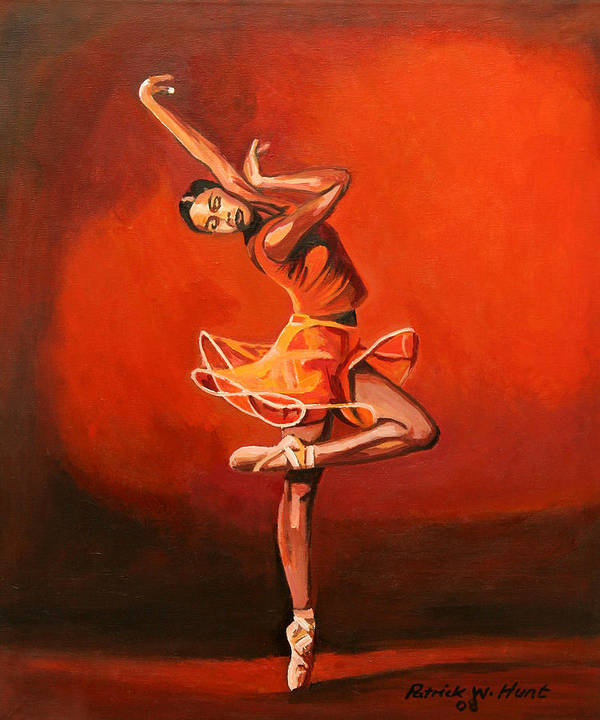 Ballet Dancer Art Print featuring the painting Ballet Lady by Patrick Hunt