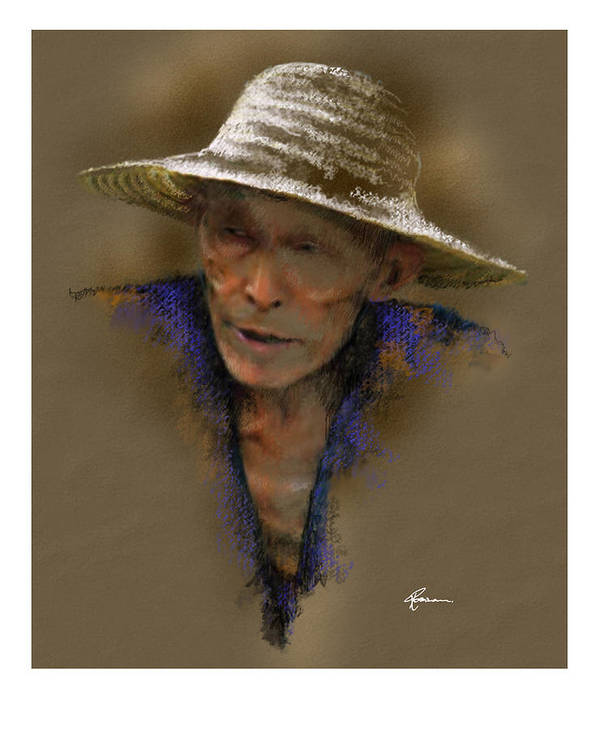 Street Seller Art Print featuring the painting Street Hawker by James Robinson