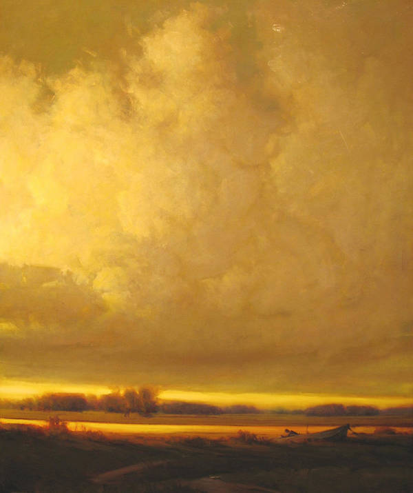 Landscape Art Print featuring the painting Fished Out by Martin Poole
