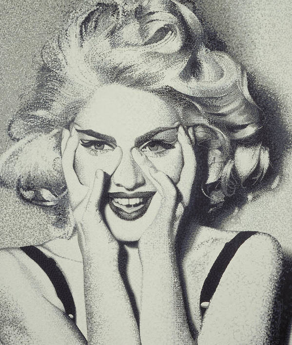 Madonna Art Print featuring the painting Madonna by Randy Ford