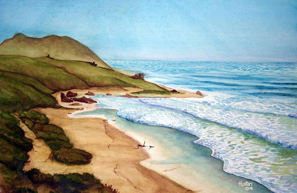 Rick Huotari Art Print featuring the painting Pacific by Rick Huotari