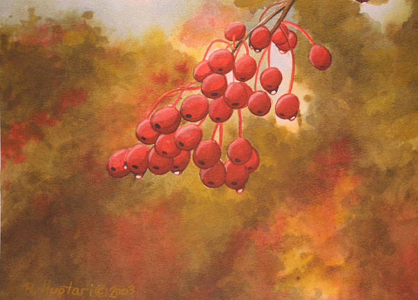 Rick Huotari Art Print featuring the painting Door County Cherries by Rick Huotari