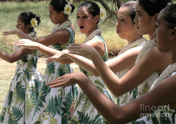 James Temple Art Print featuring the photograph Lovely Hula Hands by James Temple