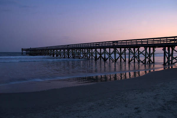 Pier Art Print featuring the photograph Sunset Pier by Jessica Wakefield