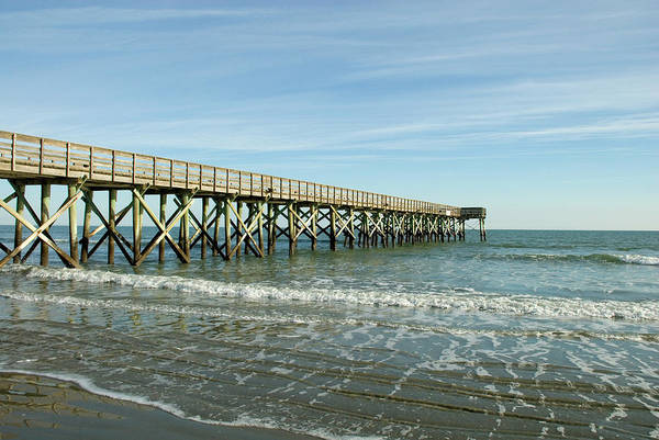 Pier Art Print featuring the photograph Isle of Palms Pier by Jessica Wakefield