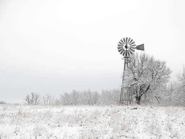 Snow Art Print featuring the photograph Windmill by Jessica Wakefield
