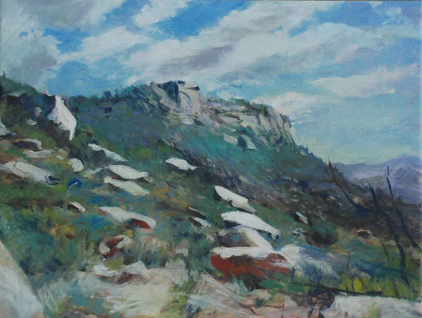 Mountain Art Print featuring the painting Granite Mountain by Marilyn Muller