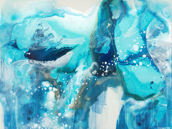 Abstract Art Print featuring the painting Brave Depths by Claire Desjardins