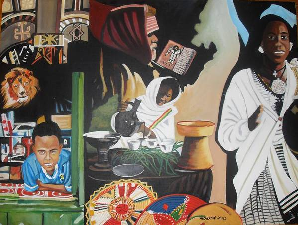 Ethiopia Art Print featuring the painting Ethiopian Traditions by Patrick Hunt