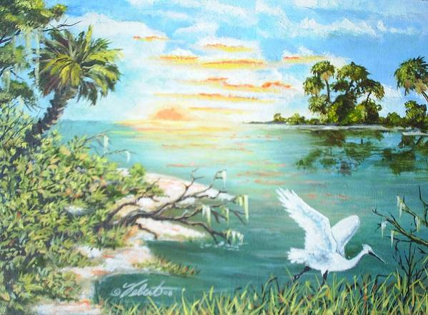 Landscape Art Print featuring the painting On the Hunt by Dennis Vebert