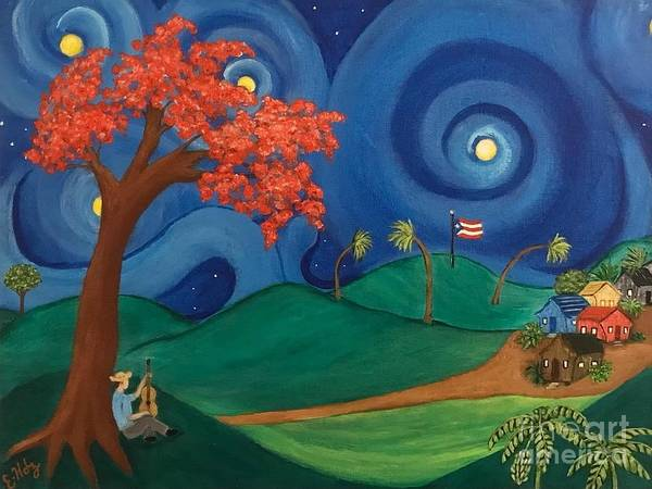 Starry Night in Puerto Rico  by Evelyn Hernandez