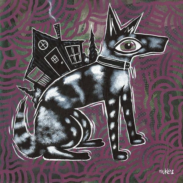 Dog House Folk Art by Nicklos Richards
