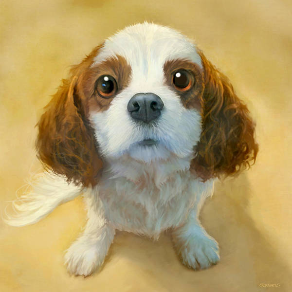 Dog Art Print featuring the painting More than Words by Sean ODaniels