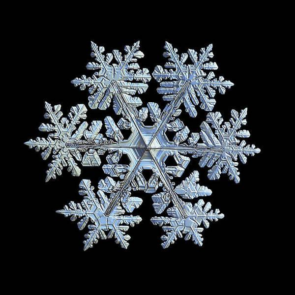 Real snowflake 2021-02-11_1b by Alexey Kljatov