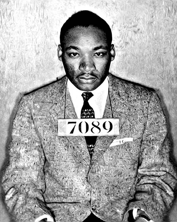 Martin Luther King Mugshot by Digital Reproductions