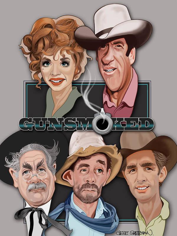 Gunsmoked Caricatures by Gene Sherman
