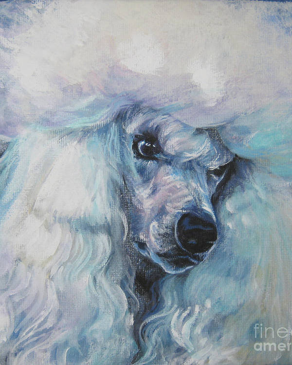 Poodle white standard by Lee Ann Shepard