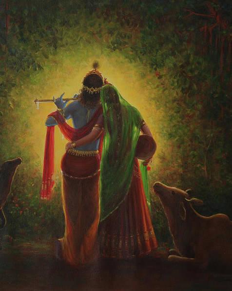 Radha Krishna Aura by Hari Om Singh