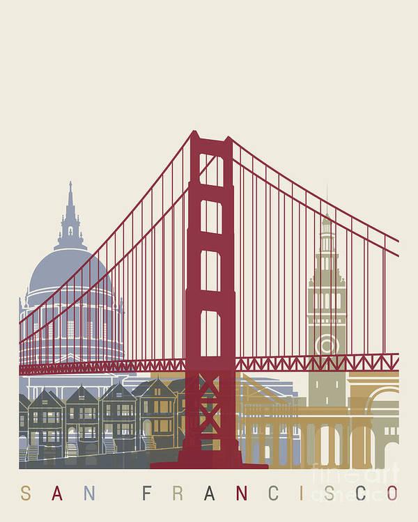 San Francisco skyline poster by Pablo Romero