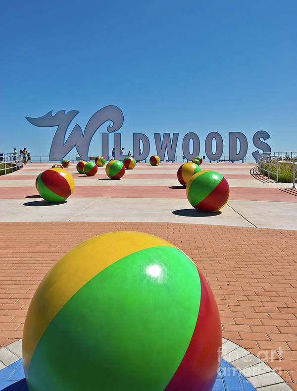 Wildwood's Sign, Wildwood, NJ Boardwalk . Copyright Aladdin Color Inc. by Retro Views