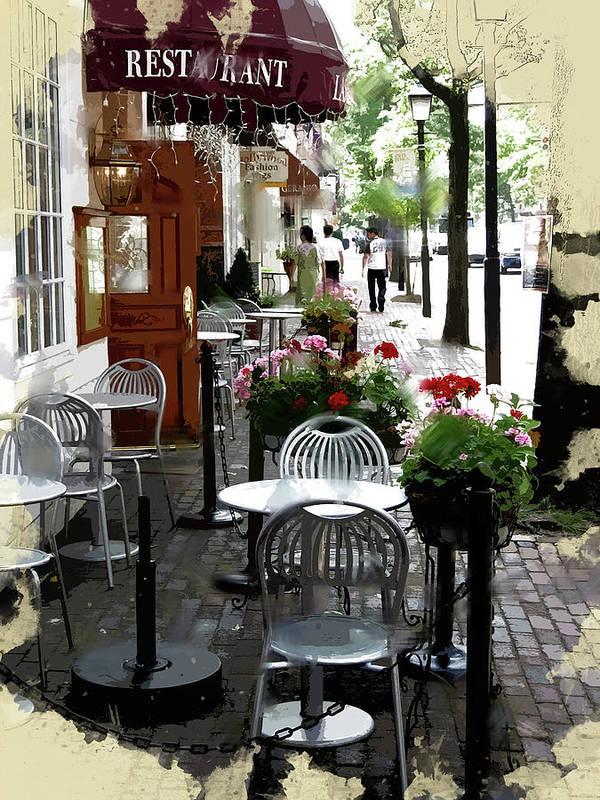 Street Side Cafe UNIQ by Elaine Plesser