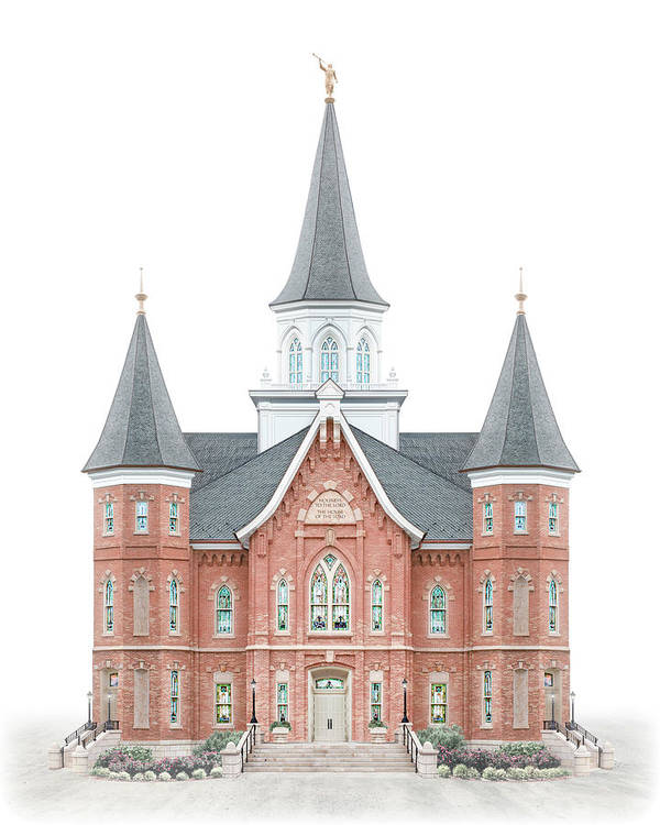 Provo City Center Art Print featuring the digital art Provo City Center Temple - Celestial Series by Brent Borup