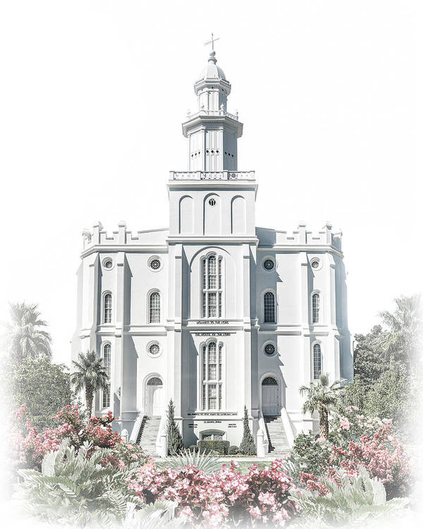 St George Art Print featuring the digital art St George Temple - Celestial Series by Brent Borup