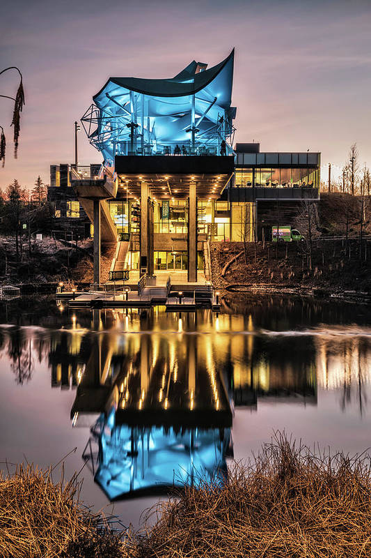 Boathouse Reflections at The Gathering Place Tulsa by Gregory Ballos