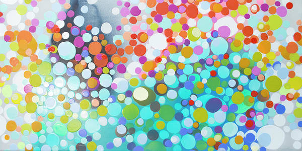 Abstract Art Print featuring the painting Sweet Thing by Claire Desjardins