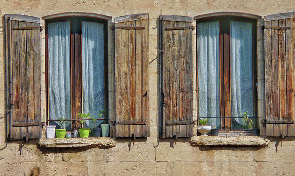 Europe Art Print featuring the digital art Provence Windows by Scott Waters