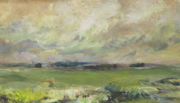 Green Art Print featuring the painting Wetlands by Marilyn Muller