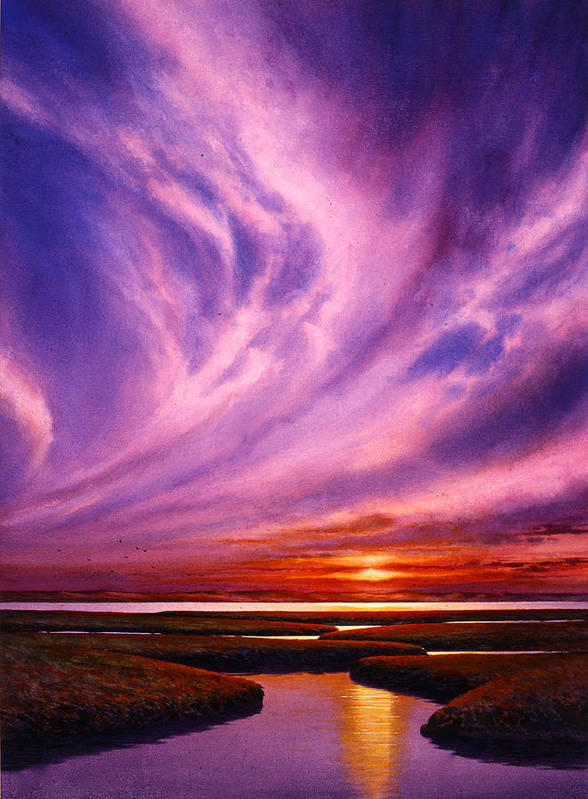 Dramatic Landscape Art Print featuring the painting Pacific Rhapsody by Robert Reynolds