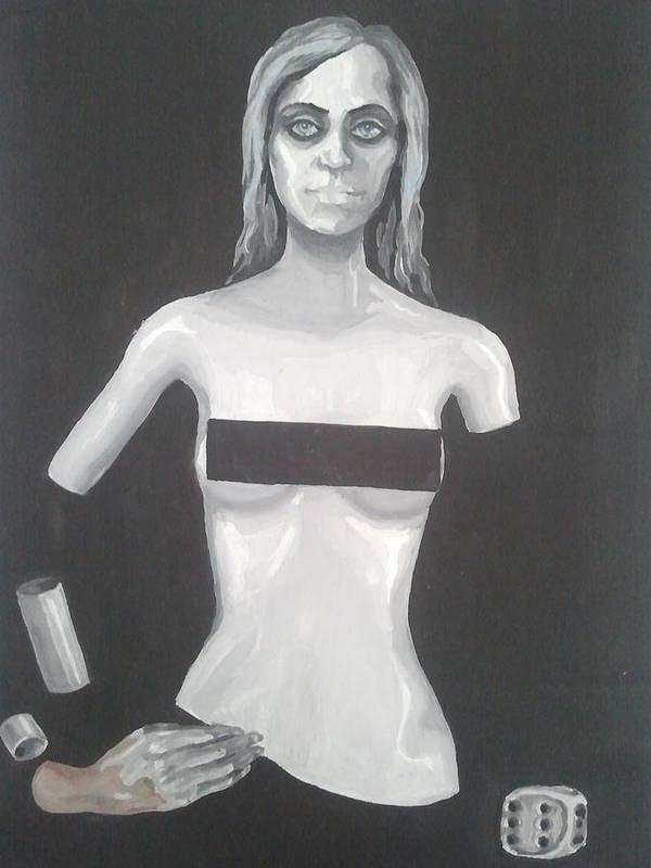 Art Print featuring the mixed media Industrial by Gergana Bojikova